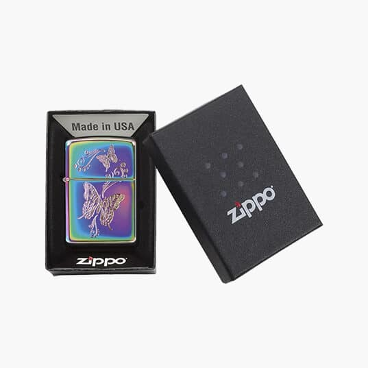 Zippo Lighters : Multi Color Butterflies