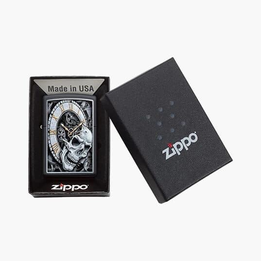 Zippo Lighters : Skull Clock Design